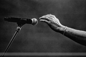 fotografia koncertowa - mikrofon