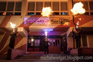 Otrzęsiny Politechnika Koszalińska Koszalin - pokaz ognia