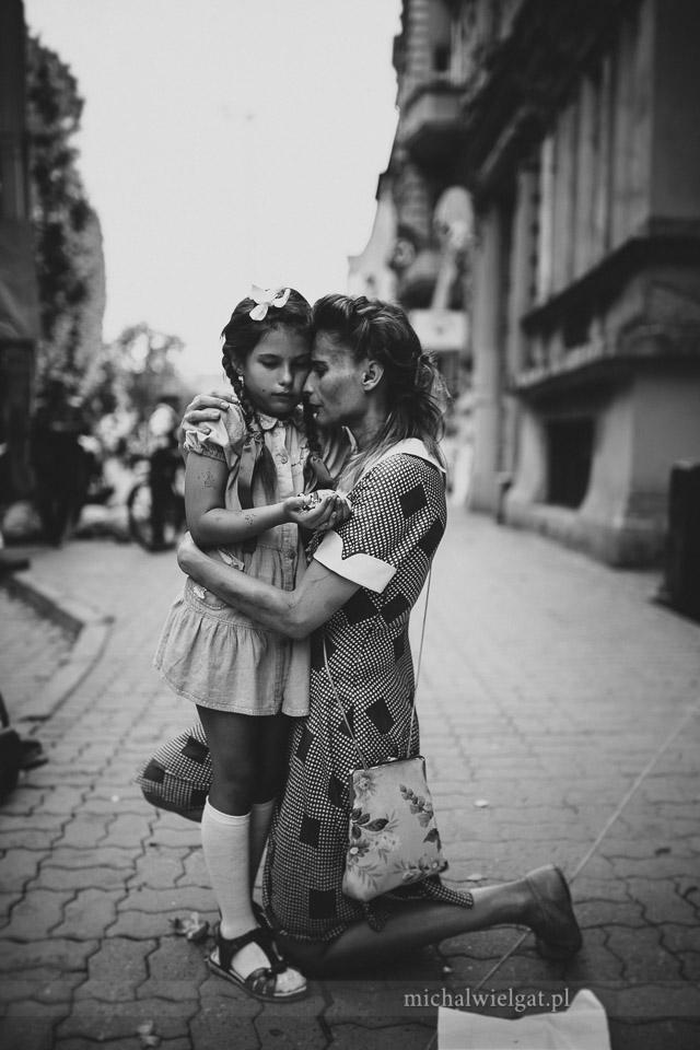 Powstanie Warszawskie - matka z córką