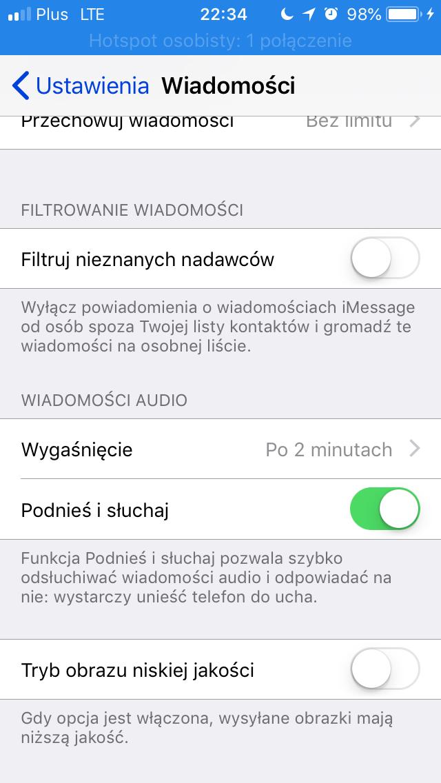 ustawienia jakości zdjęć w iOS