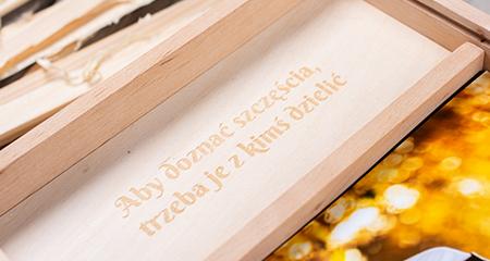 grawer drewniane pudełko na odbitki