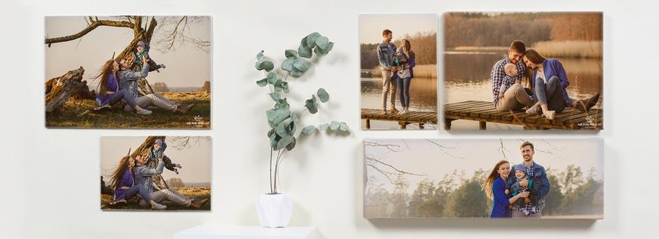 mozaika zdjęć na ścianie